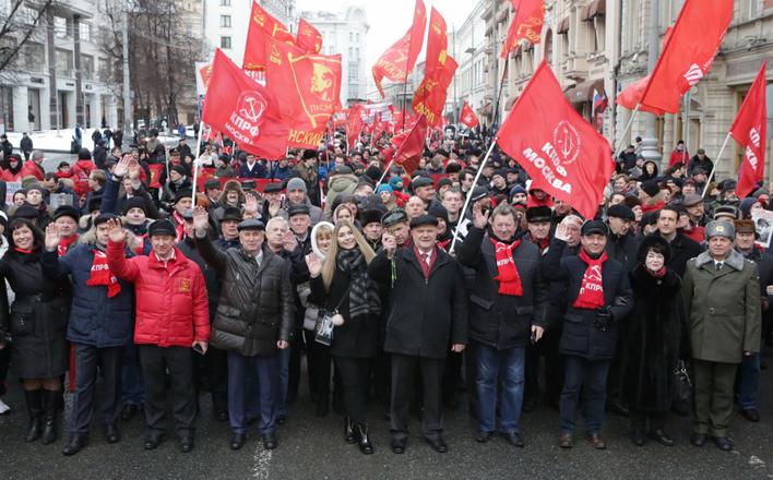 Праздничное шествие и митинг 23 февраля в Москве