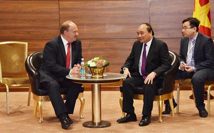 Г.А. Зюганов встретился с Премьер-министром Вьетнама Нгуен Суан Фук
