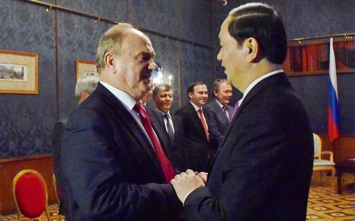 Г.А. Зюганов встретился с Президентом Социалистической Республики Вьетнам товарищем Чан Дай Куангом