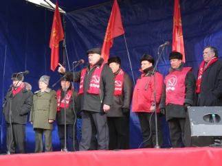 День Советской Армии и Военно-Морского Флота: митинг в Москве