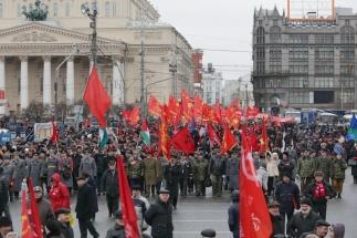 В Москве прошли митинг и шествие в честь 96-летия Советской Армии и Флота