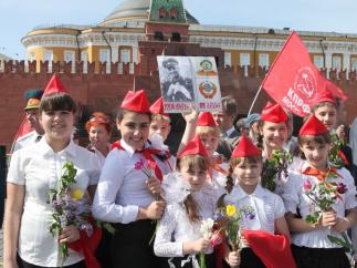 Пионерская линейка на Красной площади