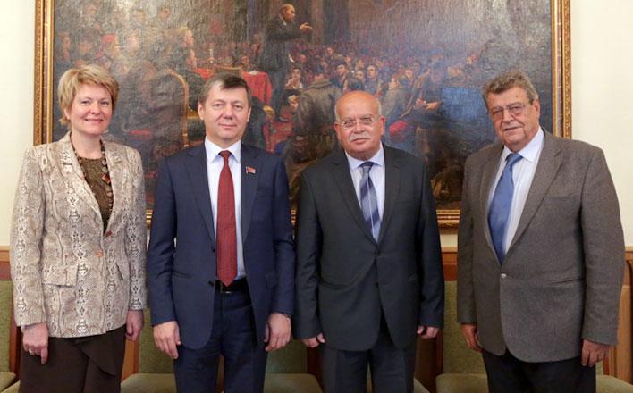 Дмитрий Новиков провёл встречу с генеральным секретарём ЦК Компартии Ливана Халедом Хадади